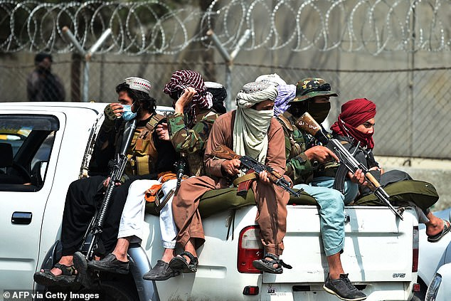 Taliban fighters who tricked a gay man into coming out of hiding then beat and raped him, according to activists (file image)