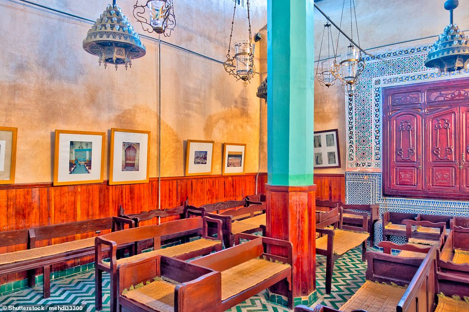 Ali recommends squeezing in a trip to the Synagogue Ibn-Danan, pictured, during a two-day getaway in Fez