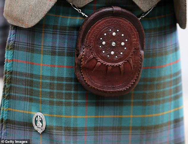 When in Scotland! The heir to the throne wore a historic leather sporran and family brooch
