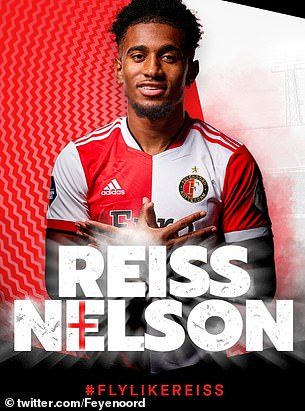 Feyenoord made signed winger Reiss Nelson on a season-long loan deal from Arsenal
