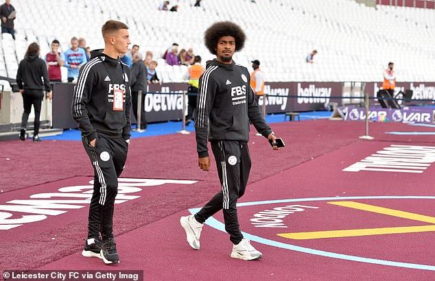 Hamza Choudhury (right) could also be leaving the King Power, with Newcastle interested