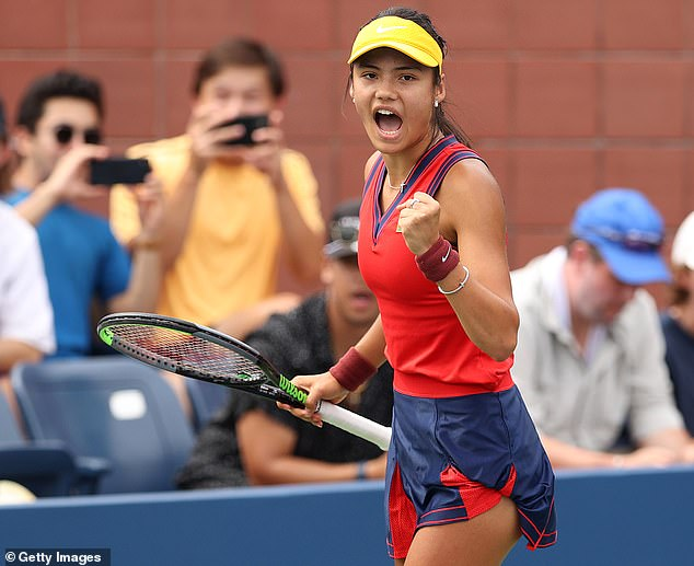 Emma Raducanu has advanced to the second round of the US Open in straight sets