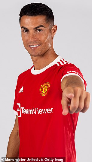Manchester United have published photos of Cristiano Ronaldo in the club's new home shirt