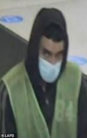 The man was seen changing into a custodial uniform to make it through security on May 18