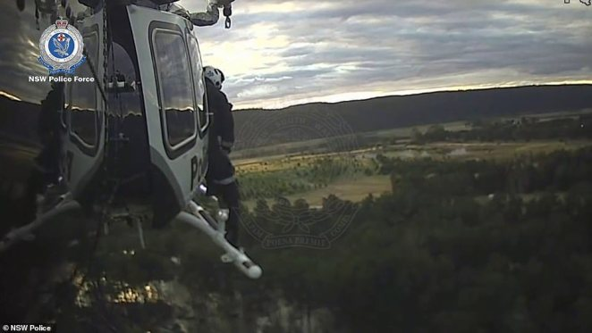 The police rescue helicopter raced to the scene near Emu Plains in a desperate bid to reach the girl before sunset and darkness hamper the search for her