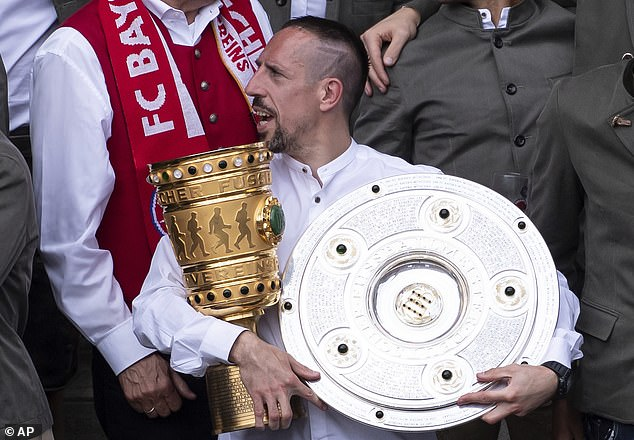 Ribery previously starred for Bayern Munich between 2007 and 2019, playing 425 times