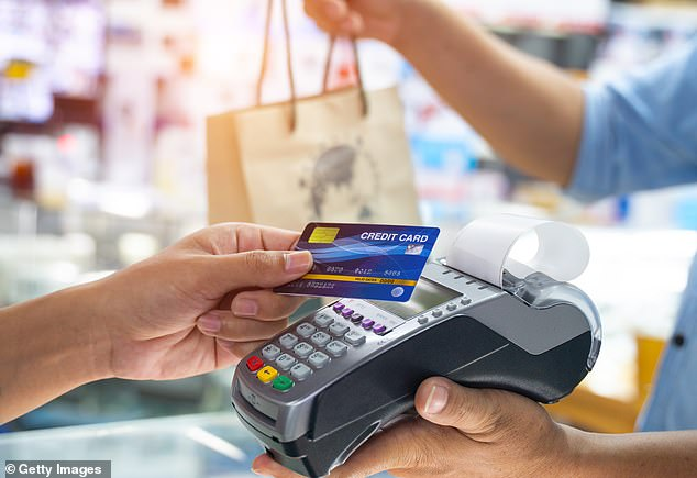 Rising: The contactless card spending limit is rising to £100 in October