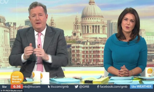 Hours later on GMB, Piers said he didn't believe a word Meghan Markle said triggering furious protest from her fans of the couple. Yesterday Ofcom announced that they had rejected all the complaints against Piers