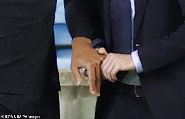The centre-back had his finger pushed back into place on the side of the pitch after half-time