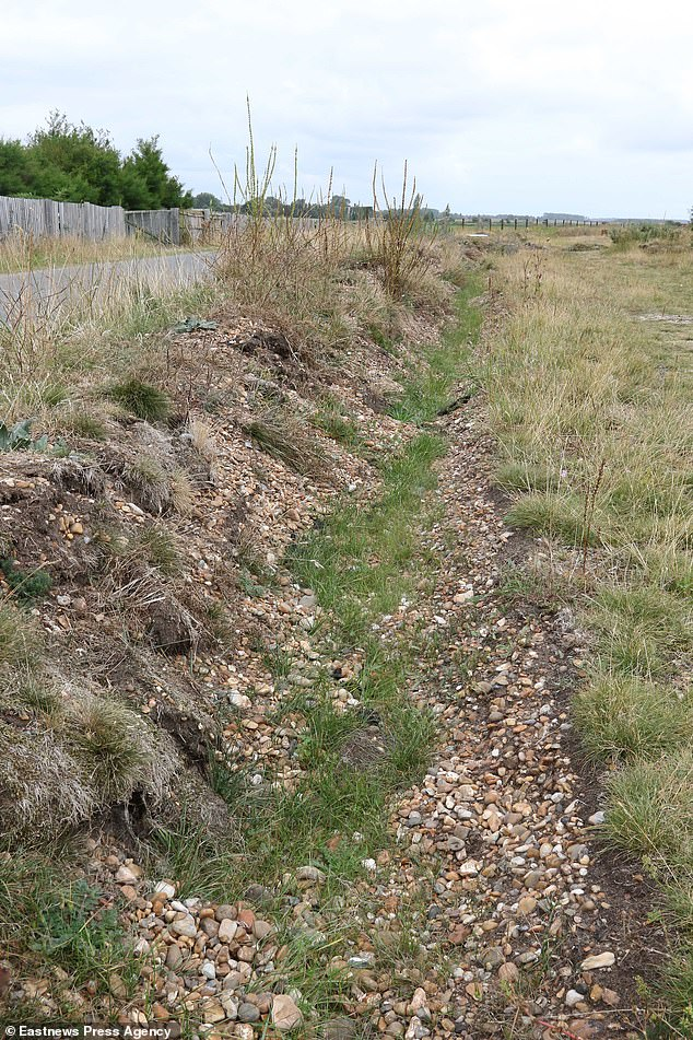 Trenches have been dug to deter camper vans from parking near a beauty spot in Suffolk