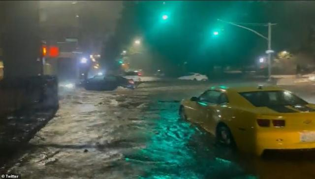 NEW YORK CITY: The National Weather Service shared a video of a white SUV floating through flowing water in the Big Apple
