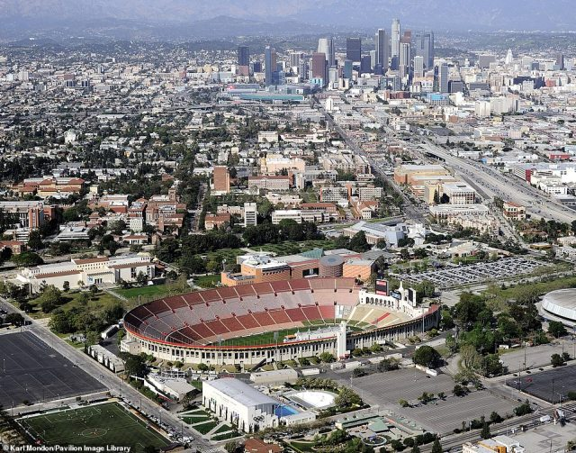 LOS ANGELES COLISEUM: Today, the site 'is the only stadium in the world to have hosted two Olympic Games, as well as the only Olympic stadium to have hosted the Super Bowl and the World Series'