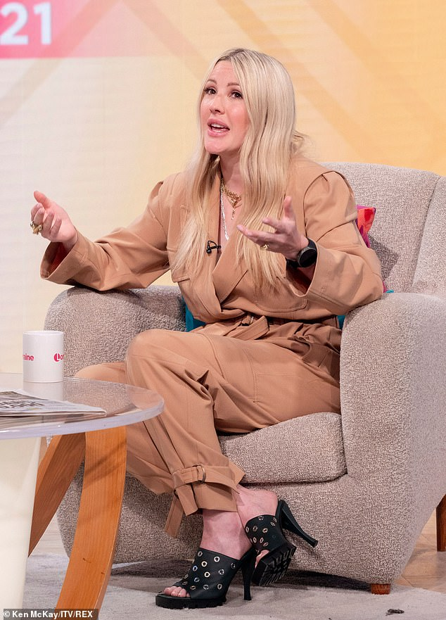 Pregnancy: Appearing on Lorraine, Ellie spoke about why she decided not to reveal she was expecting until she was 30 weeks pregnant