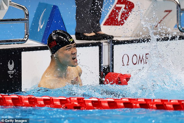 The Chinese swimmer has dominated the pool with other golds in butterfly and backstroke