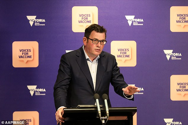Health workers are regularly seeing Covid patients in the deep stages of their infection presenting to the emergency room who have been ill for days and not been tested. Pictured: Victorian Premier Daniel Andrews