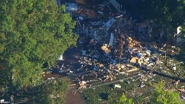 A home in Rahway, New Jersey, exploded last night after being evacuated while the storm ravaged the area with tornadoes