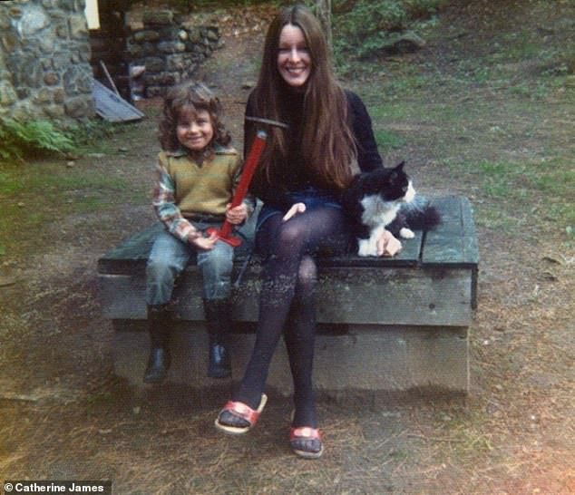 James, pictured with her son in an old photo, wrote that after learning she had been abandoned by her mother, Dylan took an extraordinary interest in her welfare