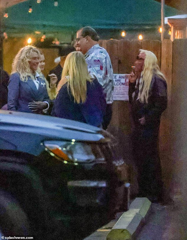 Another one: Francie was seen beaming ear to ear as she chatted with friends