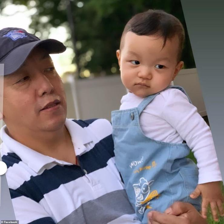 Ang Lama, 50, and his two-year-old son (pictured) drowned inside their basement apartment on Wednesday night