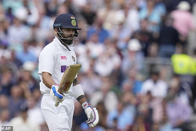 Kohli looked more fluid and controlled than his previous innings but was out for 50