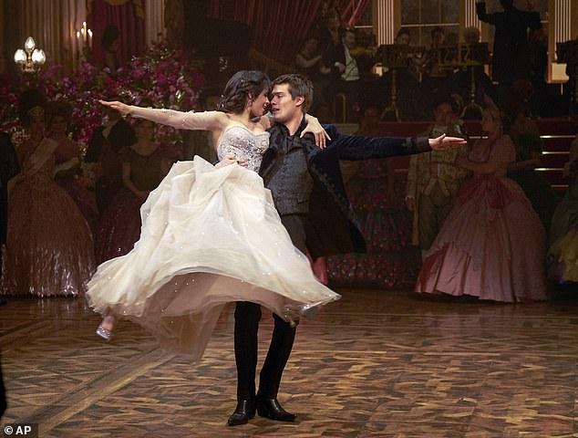 Handsome: Nicholas Galitzine's Prince Charming sweeps Cinderella off her feet