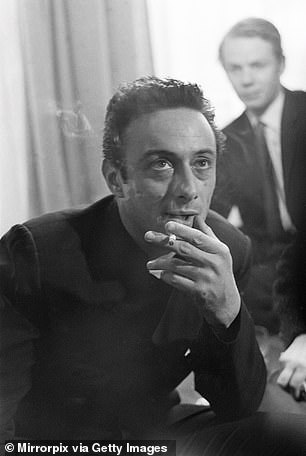 James recalled going out with Dylan another time to visit 'revolutionary comic Lenny Bruce' (pictured in 1962)