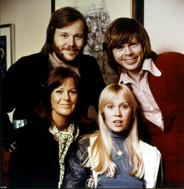 They're back! ABBA are set to break their 39-year hiatus as they will reportedly release brand new music (Bjorn Ulvaeus, back left, Benny Andersson, back right, Agnetha Faltskog, front left, and Anni-Frid Lyngstad pictured in 1974)