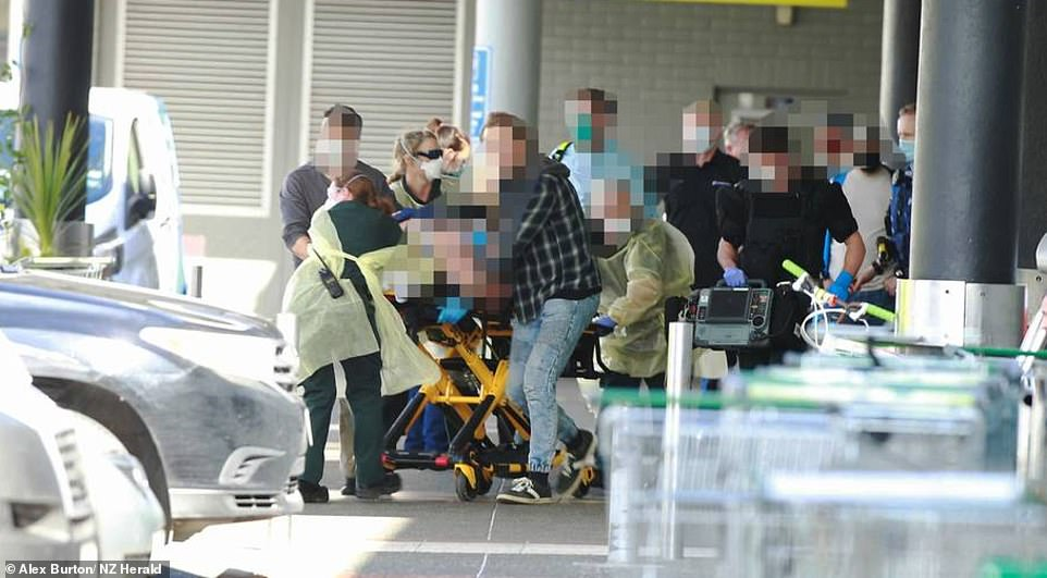 Six people were rushed to hospitals across New Zealand's north island on Friday afternoon while the knifeman died inside the Countdown supermarket in New Lynn