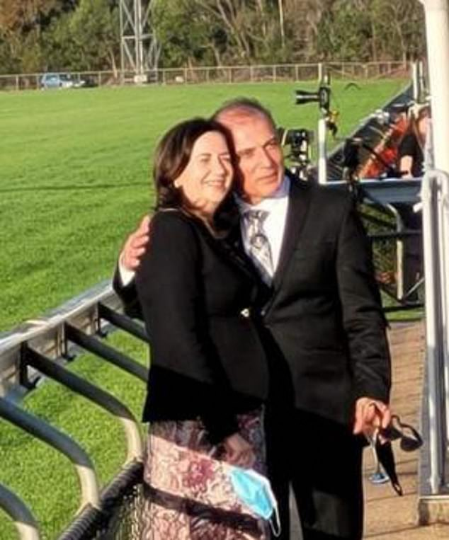 Queensland Premier Annastacia Palaszczuk is dating the multi-millionaire Brisbane doctor, who specialises in weight loss surgery. Ms Palaszczuk was pictured with Dr Reza Adib at the Caloundra Cup at the Sunshine Coast Turf Club on July 11 (above)