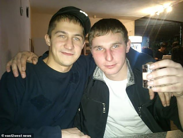 Sviridov (left) and Vyacheslav (right) were friends and Vyacheslav discovered evidence of his friend's crimes while they were drinking together