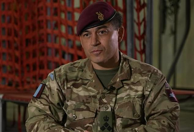 Brigadier James Martin praised the reaction of his troops and described it as pure 'serendipity' that no British forces were among the fatalities