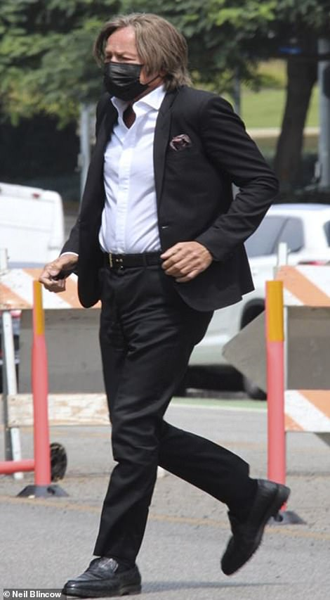 Mohamed Hadid, 72, outside of the Santa Monica courthouse on August 31