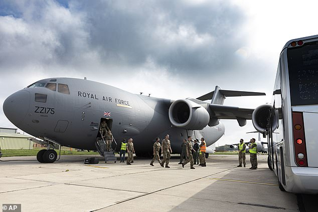 More than 15,000 people were evacuated by the RAF as part of Operation Pitting