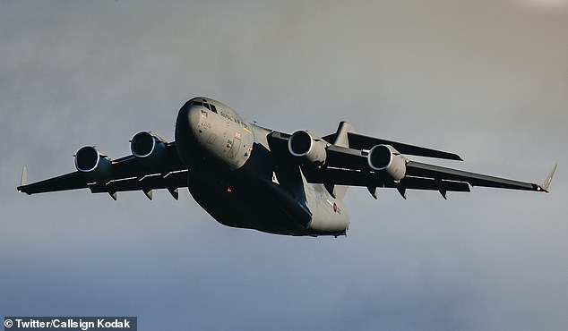 Wing Commander Latchman's C-17 jet - similar to this one - was travelling too fast to stop in the available distance but was going too slow to take off