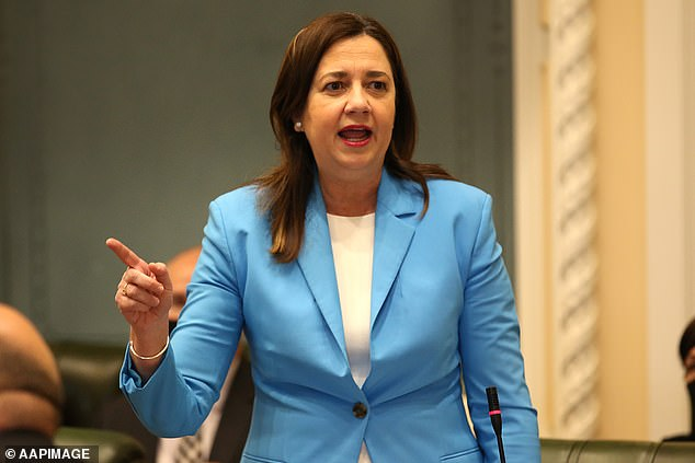 Ms Palaszczuk (pictured) has found love in lockdown after two marriages and a battle with fertility