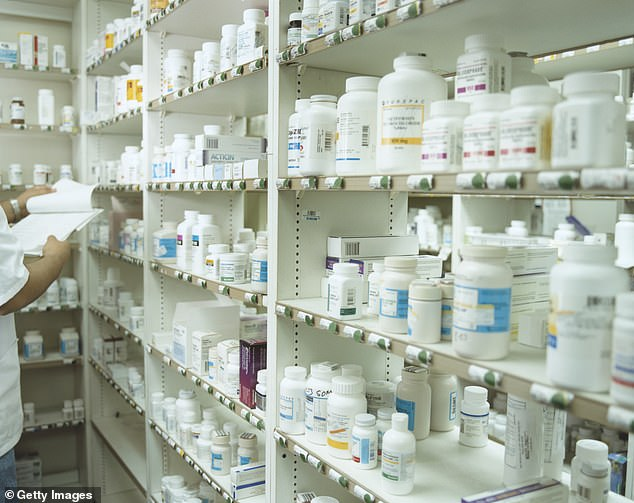 Pharmacists are instructed to sell codeine-containing painkillers only if other options have proved ineffective - and advise that they are to be used for no more than three days. (File image)