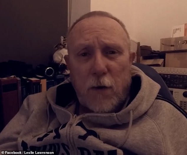 Anti-vaxxer Leslie Lawrenson (above), 58, said his Covid symptomswere not much worse than a cold. If he got very sick, he pledged he'd 'ride it out' without burdening the NHS. On June 23, he outlined to his Facebook followers how he planned to take on the virus without any medical intervention