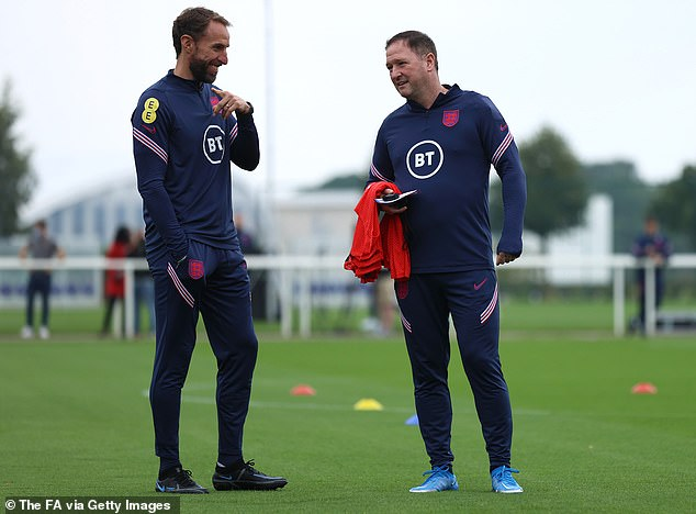 England managerGareth Southgate (left) and his right-hand man Steve Holland (right)