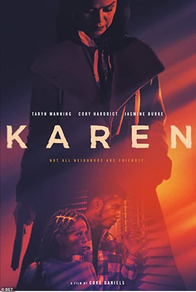 Rip-off: Critics on social media accused Karen of being a blatant rip-off of Jordan Peele's hit thriller film Get Out (2017);writer-director Coke Daniels denied the accusations
