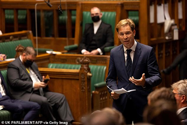 Tobias Ellwood, the Tory chairman of the Defence Select Committee, said 'unseemly, unprofessional squabbling' between Dominic Raab and Ben Wallace over the UK's exit 'must stop'