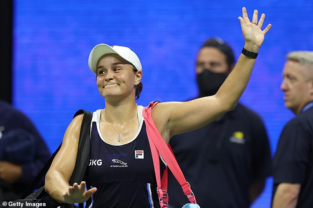 World No 1 Ash Barty waves goodbye to the US Open after her third round loss on Saturday
