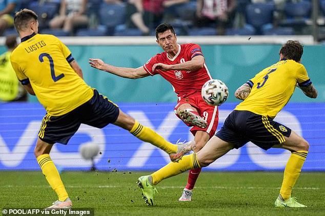 Lewandowski scored three goals at Euro 2020 but Poland finished bottom of their group