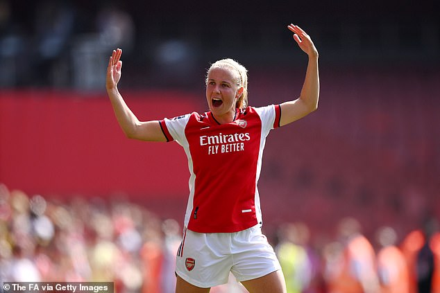 Beth Mead (above) went on to score two incredible goals for Arsenal and seal their victory