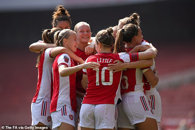 The Women's Super League champions, Chelsea, were defeated 5-0 by Arsenal (above)