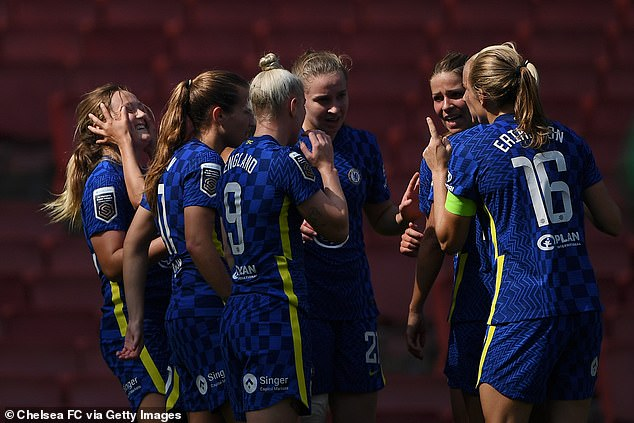 Erin Cuthbert and Pernille Harder scored for Chelsea but it was not enough to win the game