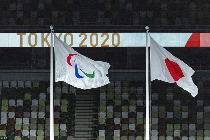 The Paralympic and Japanese flags flew side-by-side in the stadium as the Games drew to a close