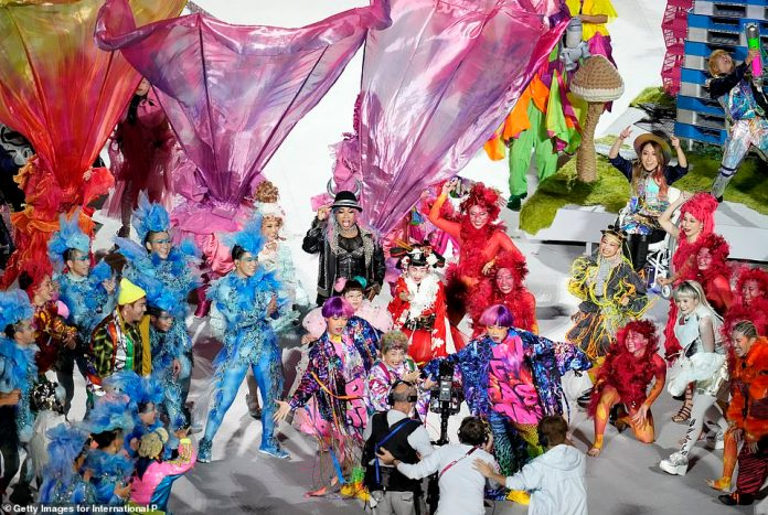 Entertainers excitedly performed for the cameras, showing the best that Tokyo has to offer to mark the end of the most remarkable Olympic Games in history