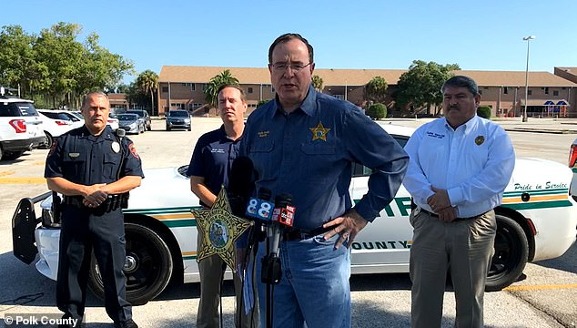 Polk County Sheriff Grady Judd announced on Sunday that three adults and a baby were fatally shot in two homes north of Lakeland, Florida early in the morning