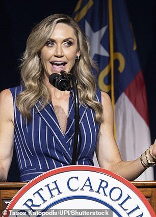 The former president's daughter-in-law Lara, who is married to Eric Trump, speaks at the North Carolina RNC on June 5, 2021