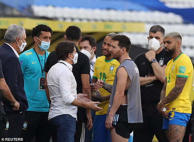The four players allegedly did not declare they had been in the UK on their entry forms to Brazil